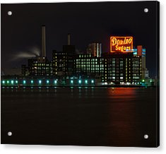 Domino Sugars Wide Acrylic Print