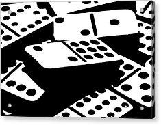 Dominoes IIi Acrylic Print by Tom Mc Nemar