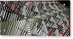 Dominos Acrylic Print by David BERNARD