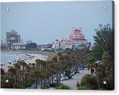 Don Cesar Hotel St Pete Beach Florida Acrylic Print by John Black