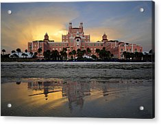 Don Cesar Reflection Acrylic Print by David Lee Thompson