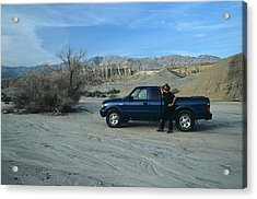 Don Kreuter And Truck In Dry Wash Acrylic Print