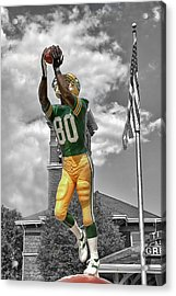 Acrylic Print featuring the photograph Donald Driver Statue by Joel Witmeyer
