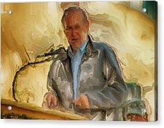 Donald Rumsfeld Acrylic Print by Brian Reaves
