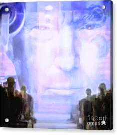 Acrylic Print featuring the photograph Donald Trump 1984 Square by Wingsdomain Art and Photography