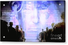 Acrylic Print featuring the photograph Donald Trump 1984 by Wingsdomain Art and Photography