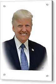 Donald Trump - Dwp0080231 Acrylic Print