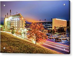 Donald W. Reynolds Stadium - Home Of The Arkansas Razorbacks College Football Team Acrylic Print