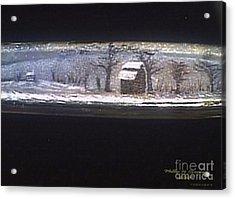 Donee Tobacco Barn In Winter  Acrylic Print
