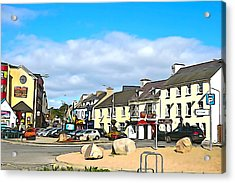 Donegal Town Acrylic Print by Charlie and Norma Brock