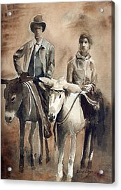 Donkey Ride Acrylic Print by Arline Wagner