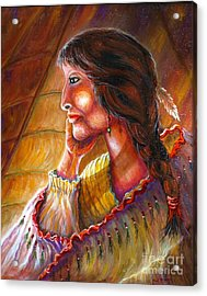 Donna Lisa Acrylic Print by Philip Bracco