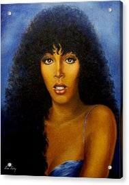 Acrylic Print featuring the painting Donna Summers by Loxi Sibley