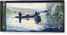 Donner Lake Kayaks Acrylic Print