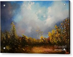 Dont Break Me Down Oil Painting Acrylic Print