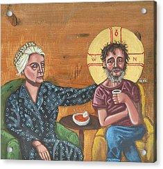 Don't Call Me A Saint- Dorothy Day With Homeless Christ Acrylic Print