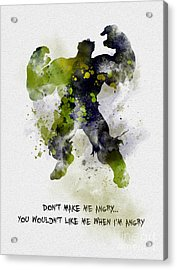 Don't Make Me Angry Acrylic Print by Rebecca Jenkins