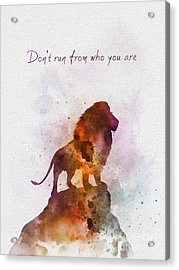 Don't Run From Who You Are Acrylic Print