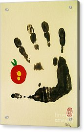 Acrylic Print featuring the painting Don't Touch Me by Roberto Prusso