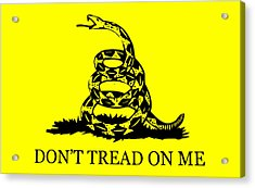 Don't Tread On Me Flag Acrylic Print by War Is Hell Store