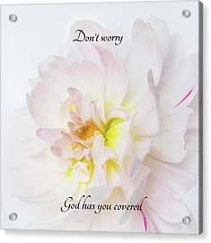 Don't Worry Square Acrylic Print