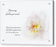 Don't Worry With Verse Acrylic Print