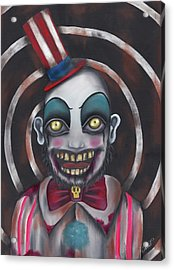 Don't You Like Clowns?  Acrylic Print by Abril Andrade Griffith