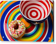Donut Blowl And Plate Acrylic Print by Garry Gay