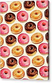 Donut Pattern Acrylic Print by Kelly Gilleran