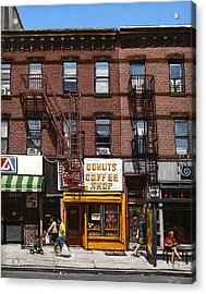 Donut Shop Acrylic Print by Ted Papoulas