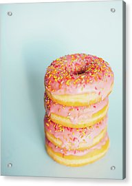Donuts Acrylic Print by Happy Home Artistry