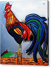 Doodle  Dum  Rooster Acrylic Print