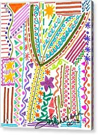 Doodles Gone Wild Acrylic Print