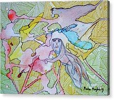 Doodlewat9 The Journey Acrylic Print