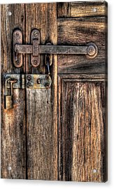 Door - The Latch Acrylic Print by Mike Savad