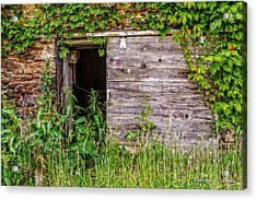 Door Ajar Acrylic Print by Christopher Holmes