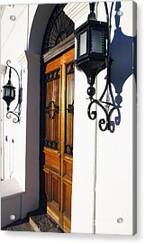 Door And Lamps Acrylic Print by Thomas R Fletcher