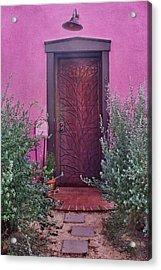 Door And Mailbox - Barrio Historico - Tucson Acrylic Print