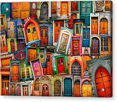 Door Collage Mashup Acrylic Print