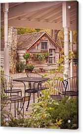 Acrylic Print featuring the photograph Door County Thorp Cottage by Heidi Hermes
