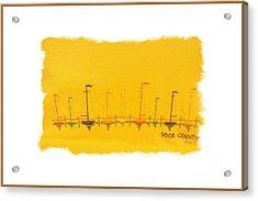 Acrylic Print featuring the mixed media Door County Sail Boats by Marsha Heiken