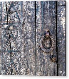 Door Detail Santa Fe Acrylic Print