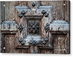 Acrylic Print featuring the photograph Door Fragment Of The Church Of The Jacobins by Elena Elisseeva