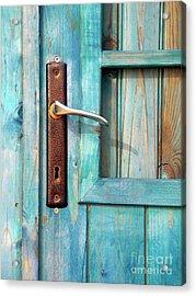 Door Handle Acrylic Print by Carlos Caetano