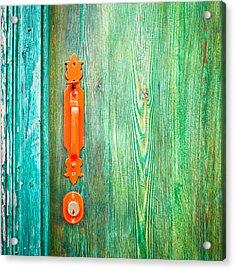 Door Handle Acrylic Print