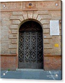 Door In Ferrara, Italy Acrylic Print by Italian Art