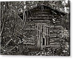 Door Met Foot Acrylic Print by David A Brown
