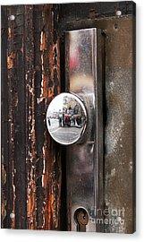 Door Reflections Acrylic Print by John Rizzuto