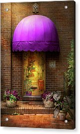 Door - The Door To Wonderland Acrylic Print by Mike Savad