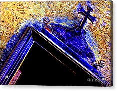 Door With A Cross Acrylic Print by Adriano Pecchio